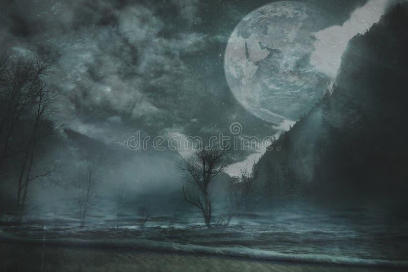 Fond de paysage d'imagination images libres de droits