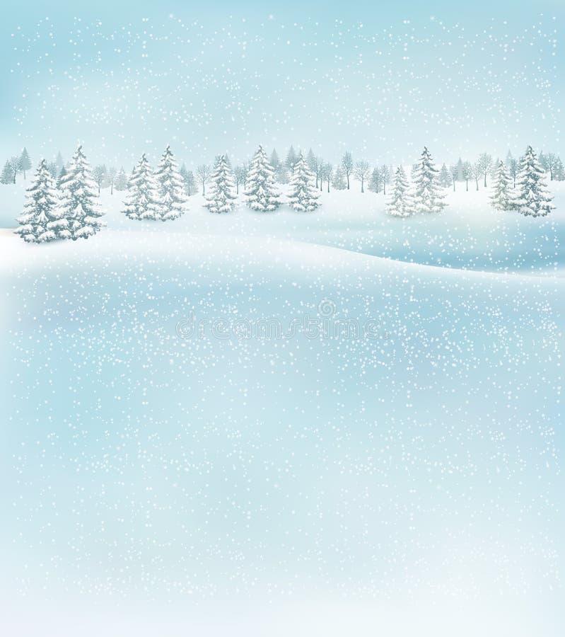 Fond de paysage de Noël d'hiver