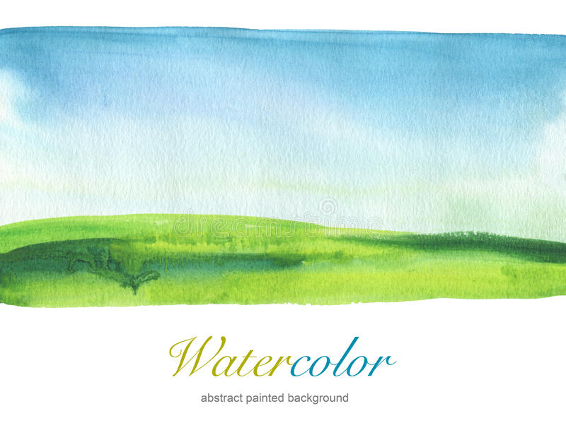 Fond de paysage peint par aquarelle abstraite texturisé photographie stock