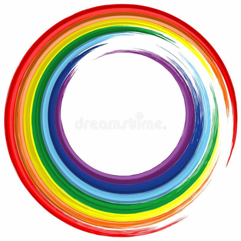 Fond de peinture d'éclaboussure d'abrégé sur cadre de couleur d'arc-en-ciel d'art illustration stock