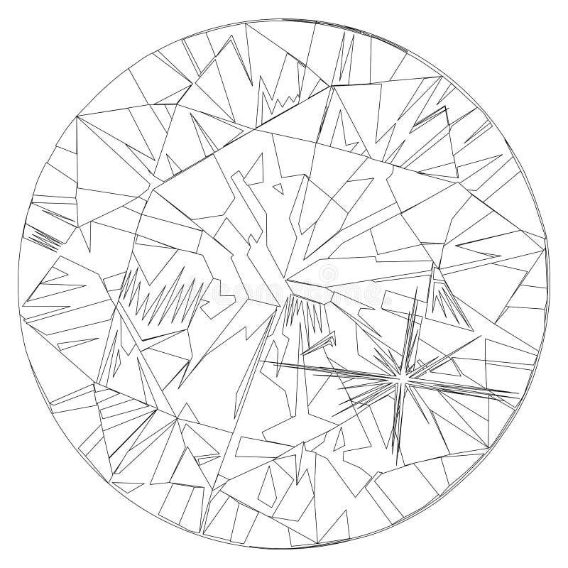 Fond de peinture intérieur de coussin de bijou de peinture murale de diamant de résumé illustration de vecteur