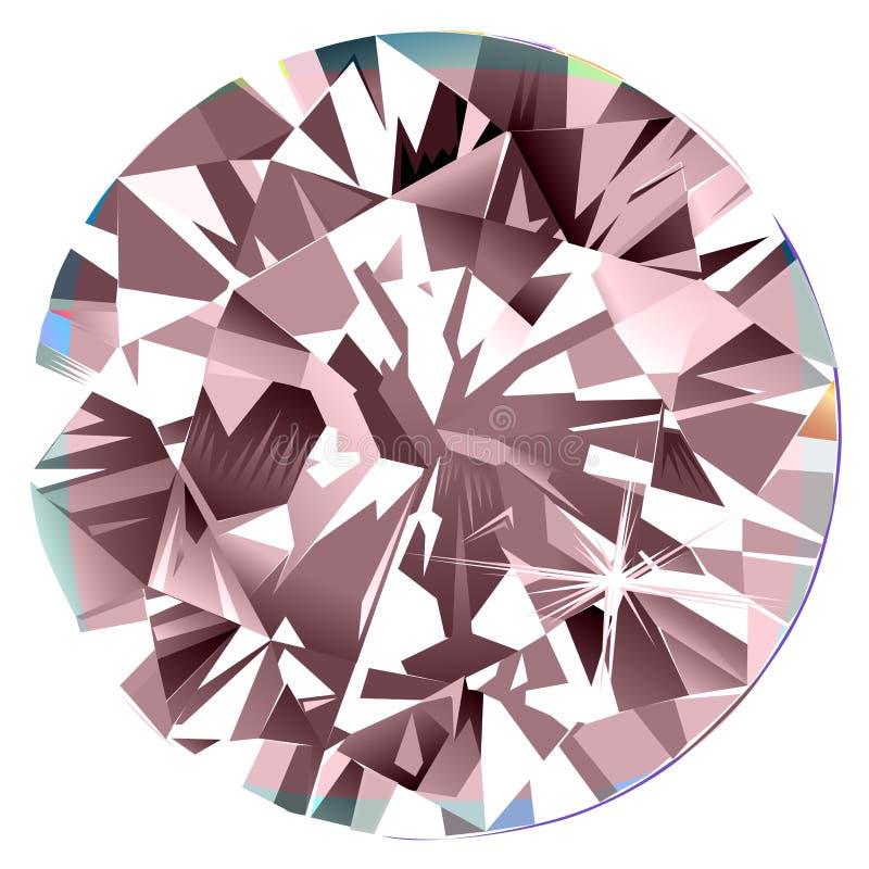 Fond de peinture intérieur de coussin de diamant de peinture murale rose abstraite de contre-jour illustration de vecteur