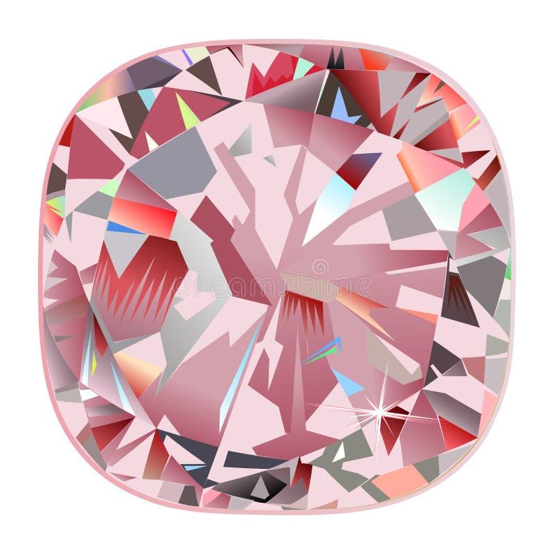 Fond de peinture intérieur de coussin de diamant de peinture murale rose abstraite de contre-jour illustration stock