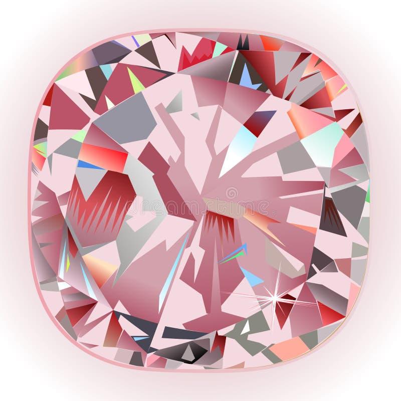 Fond de peinture intérieur de coussin de diamant de peinture murale rose abstraite de contre-jour illustration libre de droits