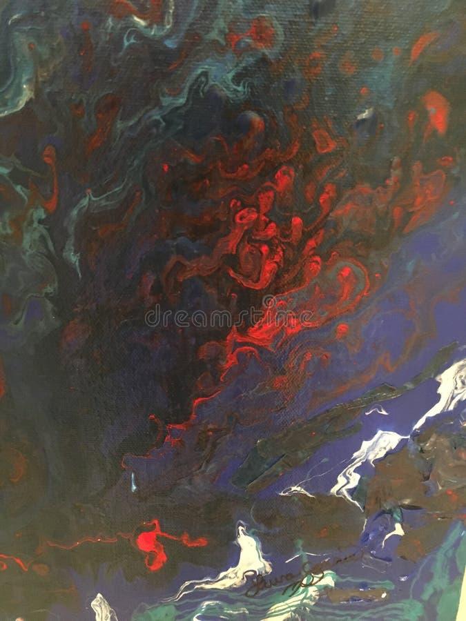 Fond de peinture liquide coloré images libres de droits