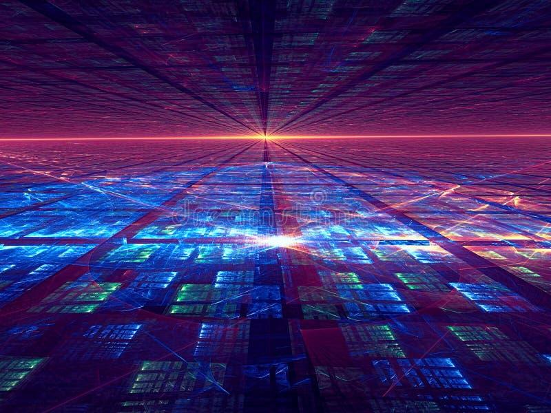 Fond de perspective avec la grille - a digitalement produit de l'image illustration de vecteur
