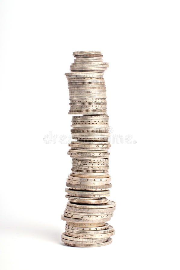 Fond de pièce de monnaie photo libre de droits