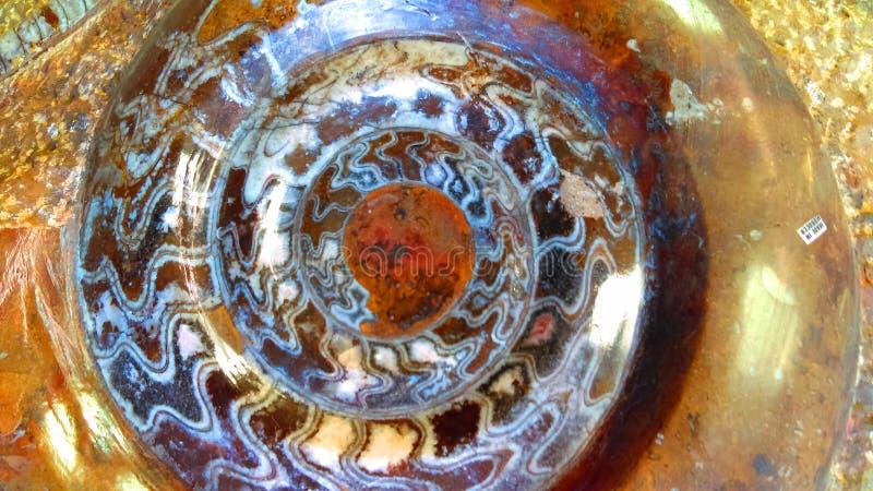 Fond de pierre gemme d'ammonite photo stock