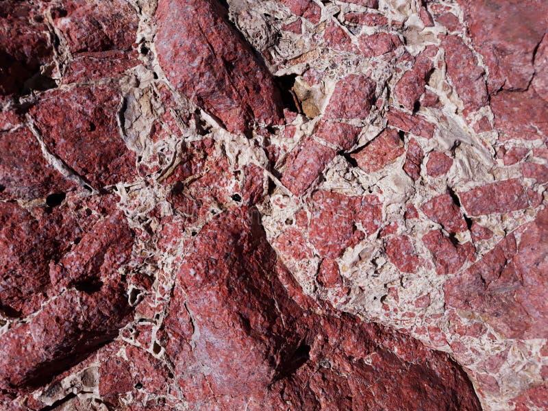 fond de pierre rouge avec les veines blanches photo stock
