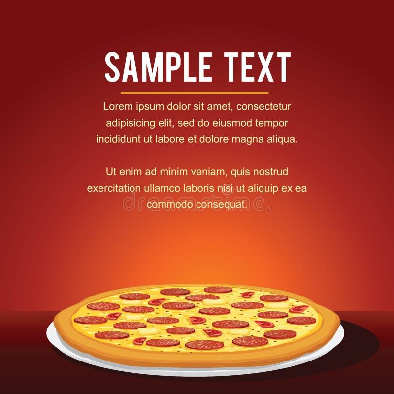Fond de pizza de pepperoni Vecteur illustration de vecteur
