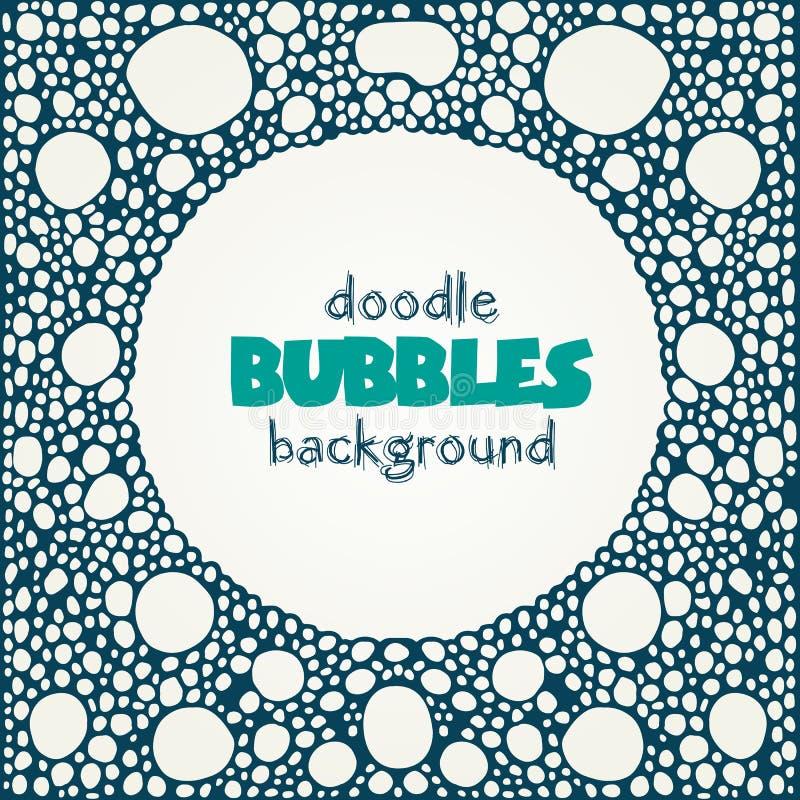 Fond de place blanche avec le cadre rond bleu de bulles de savon illustration libre de droits