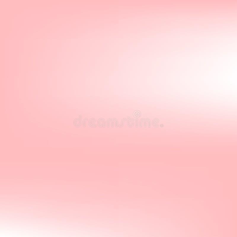 Fond de place d'abrégé sur tache floue de gradient de rose en pastel Illustration de vecteur illustration stock