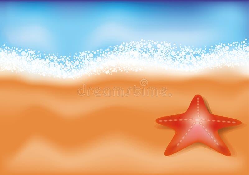 Fond de plage de mer d'été. illustration stock