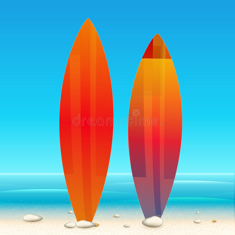 Fond de plage de vacances d'été illustration stock