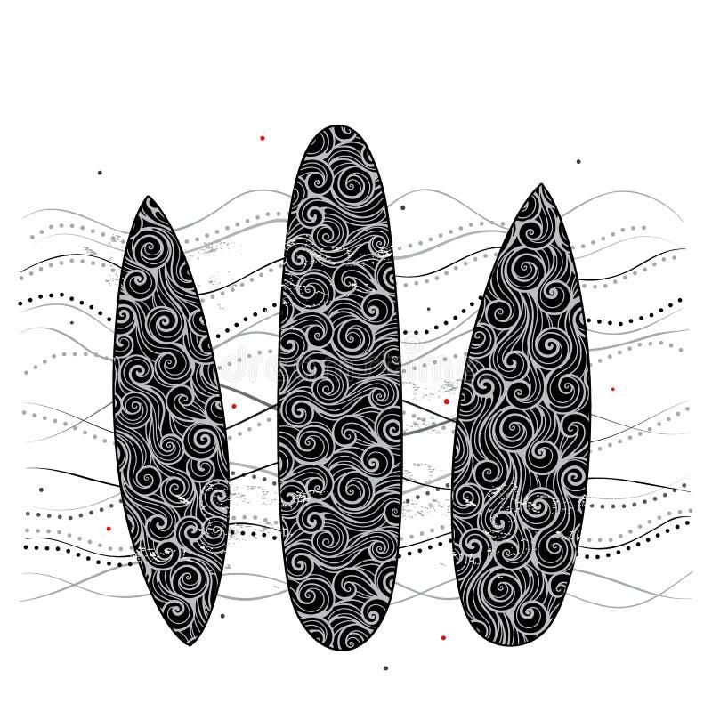 Fond de planche de surf illustration stock
