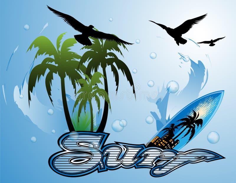 Fond de planche de surf illustration de vecteur