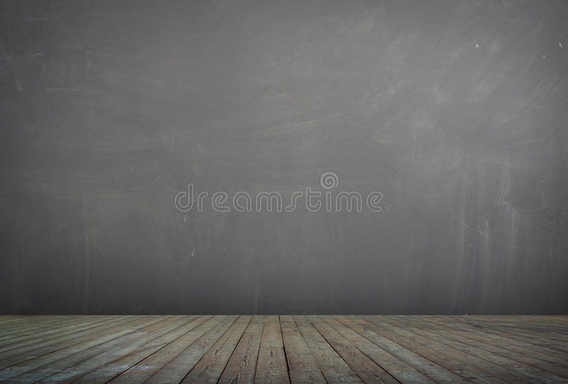 Fond de plancher en bois et de mur en béton texturisé images libres de droits