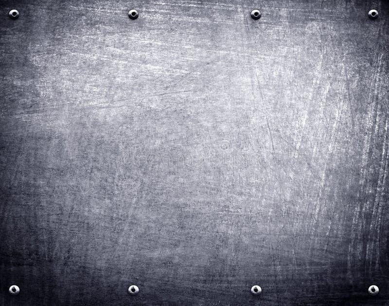 Fond de plaque métallique photographie stock libre de droits