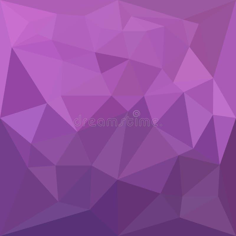 Fond de Plum Purple Abstract Low Polygon illustration stock