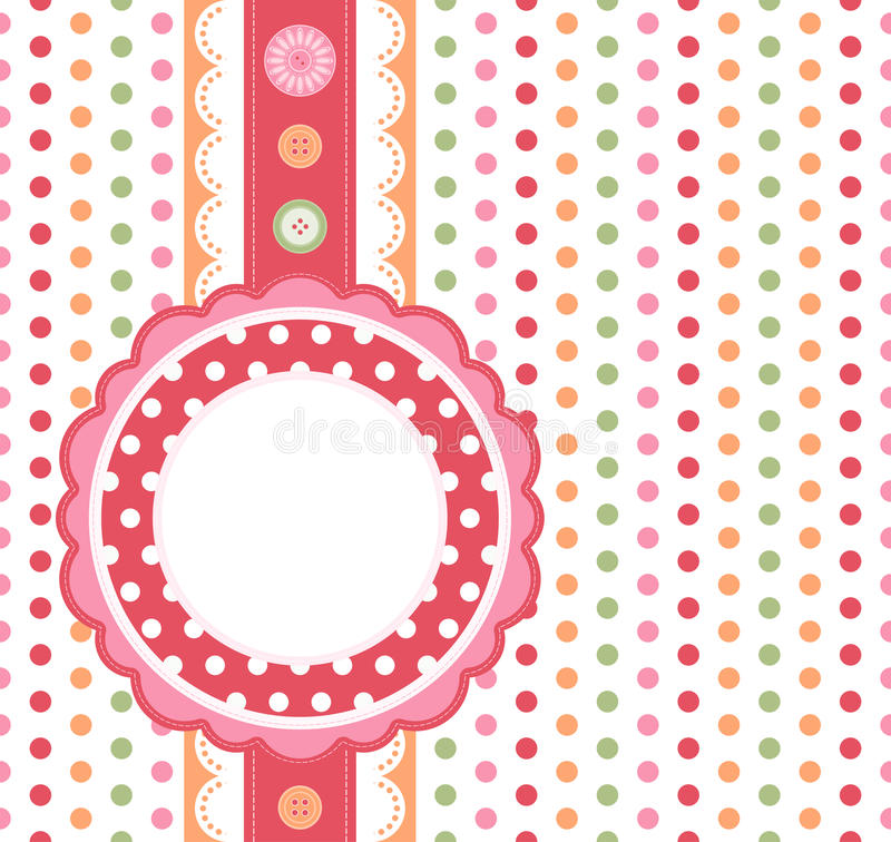 Fond de point de polka illustration de vecteur