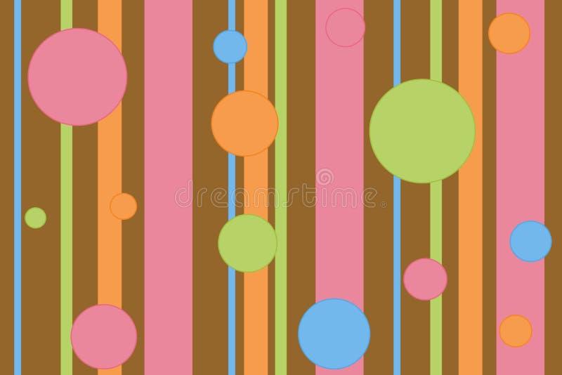 Fond de point de polka de Stripey photo libre de droits