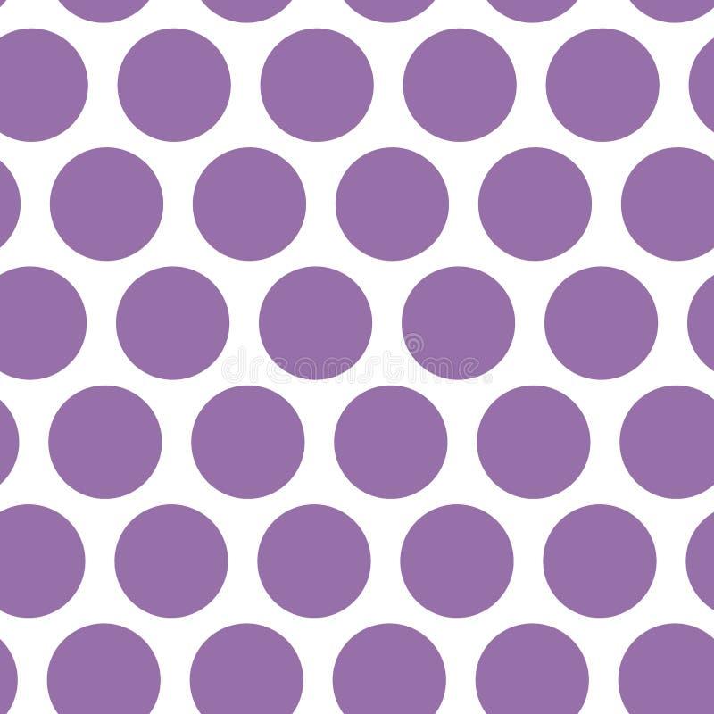 Fond de point de polka, modèle sans couture Point pourpre sur le fond blanc Vecteur illustration de vecteur