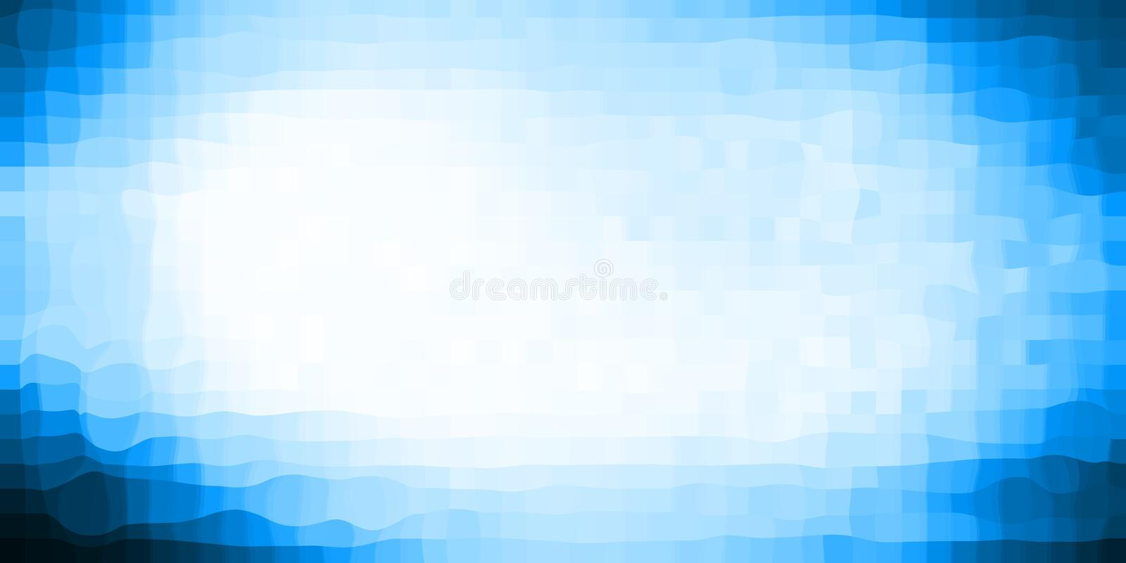 Fond de pointe abstrait bleu de pixelate illustration stock