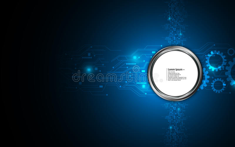 Fond de pointe numérique de concept d'innovation de mise en réseau abstraite illustration de vecteur