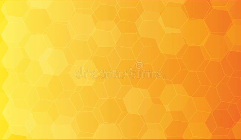 Fond de polygone de jaune orange image libre de droits