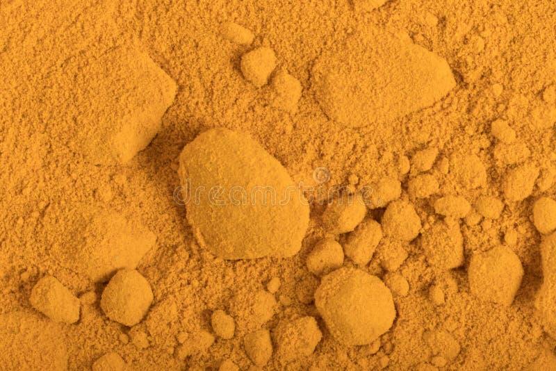 Fond de poudre de safran des indes image libre de droits