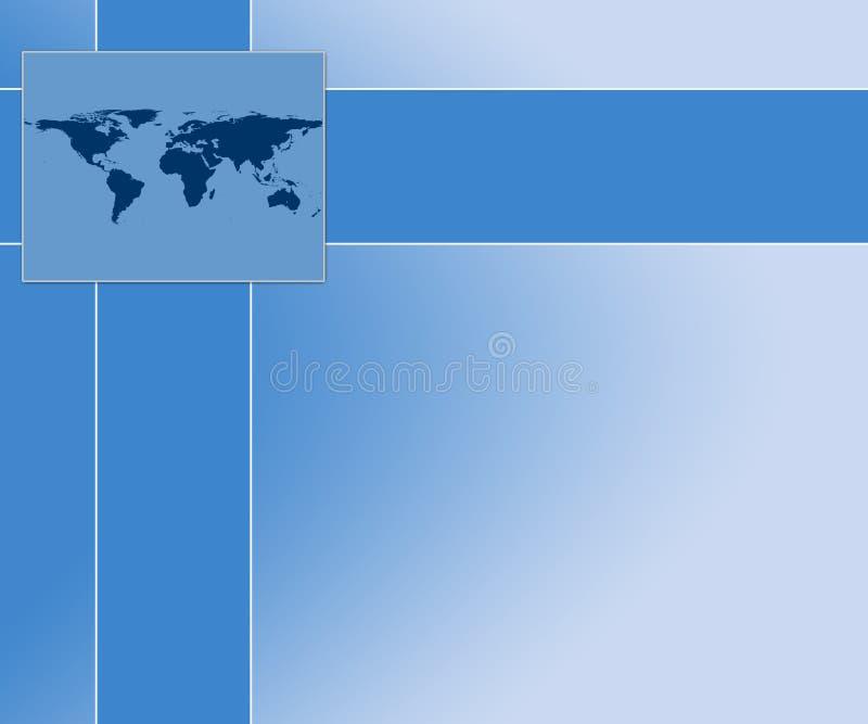 Fond de présentation de carte du monde illustration stock