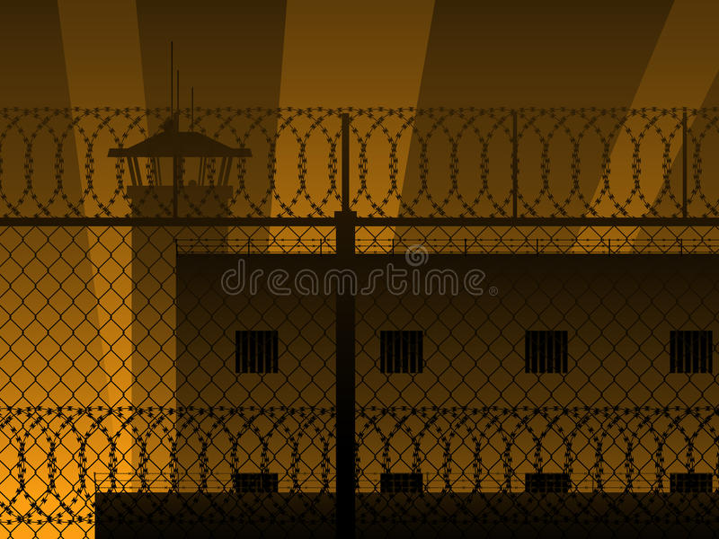 Fond de prison illustration libre de droits
