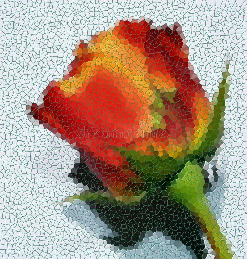 Fond de puzzle de Rose, formes, texture abstraite illustration de vecteur
