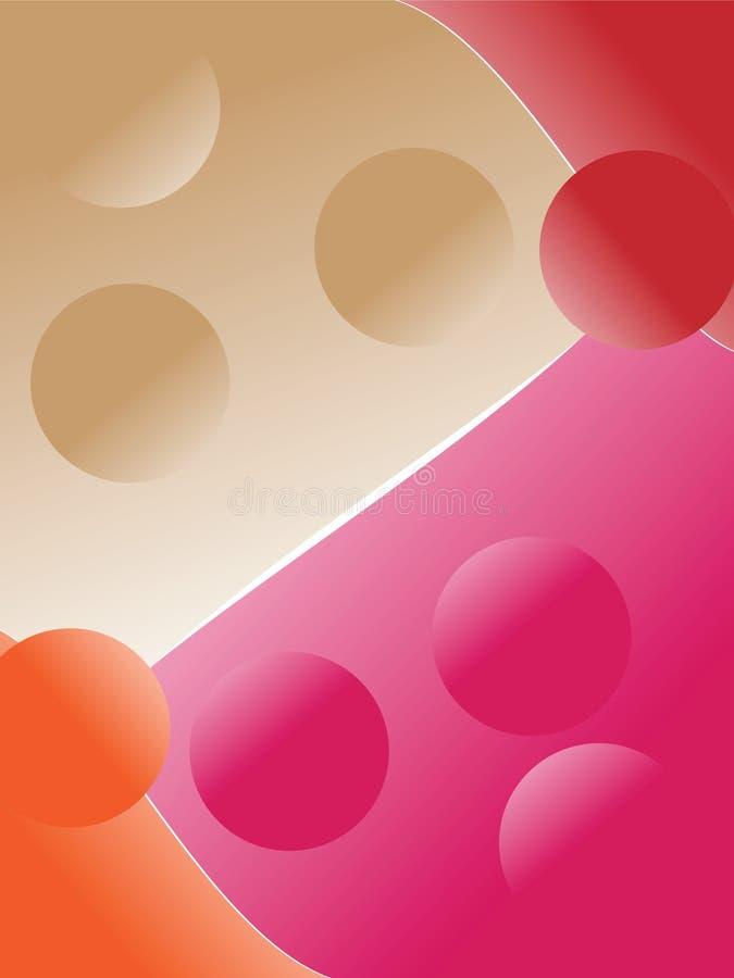 Fond de quatre couleurs illustration stock