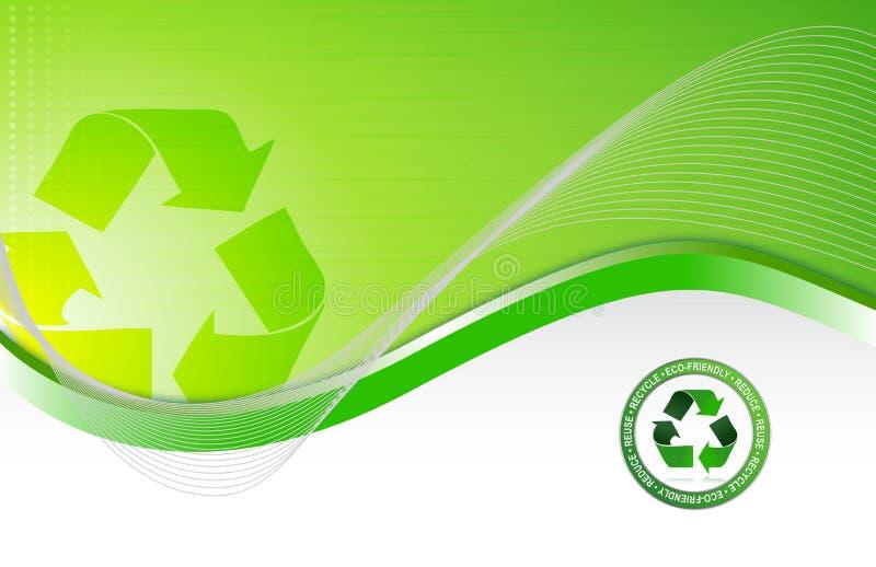 Fond de réutilisation environnemental vert illustration de vecteur