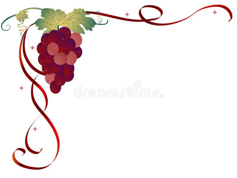 Fond de raisins illustration stock