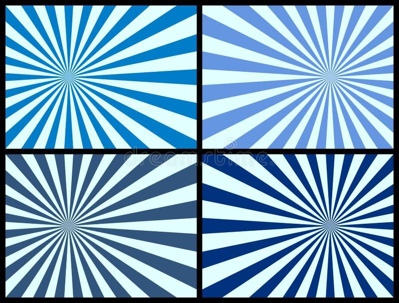 Fond de rayons [bleu] illustration libre de droits