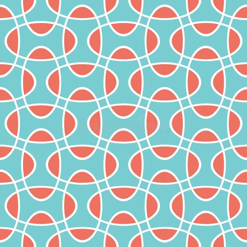 Fond de recouvrement géométrique de intersection sans couture de modèle de cercle d'ellipse illustration libre de droits