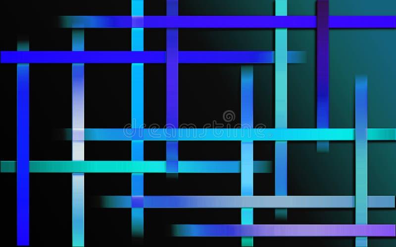 Fond de recouvrement de rayures bleues - papier peint simple abstrait de mosaïque de modèle de barres illustration stock