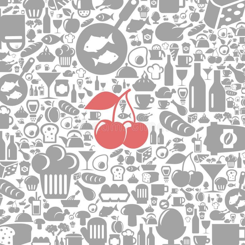 Fond de repas illustration stock