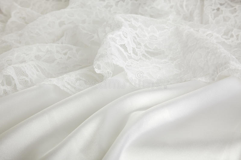 Fond de robe de soie et de mariage de lacet photo libre de droits