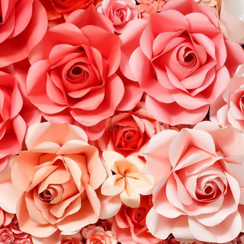 Fond de Rose de papier images stock