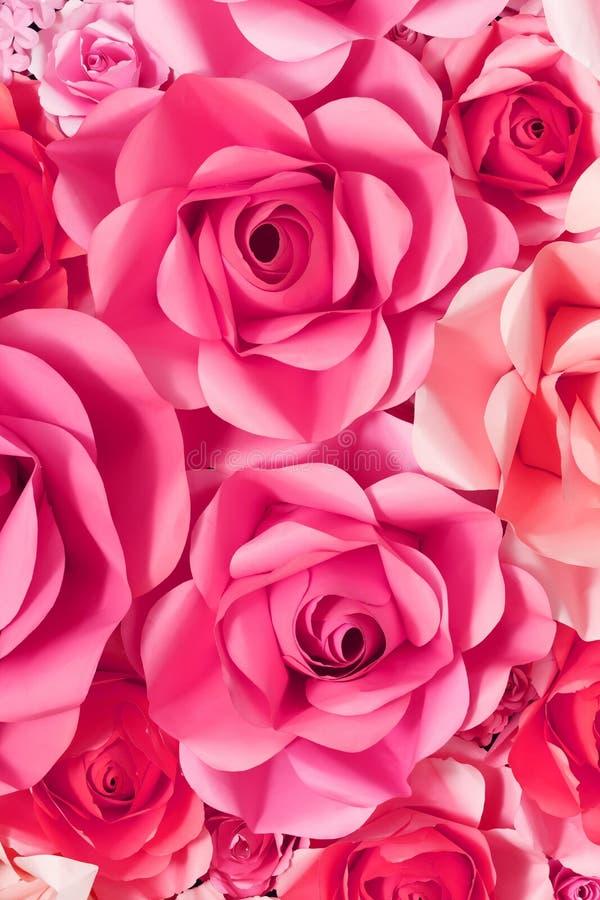 Fond de Rose de papier photo libre de droits