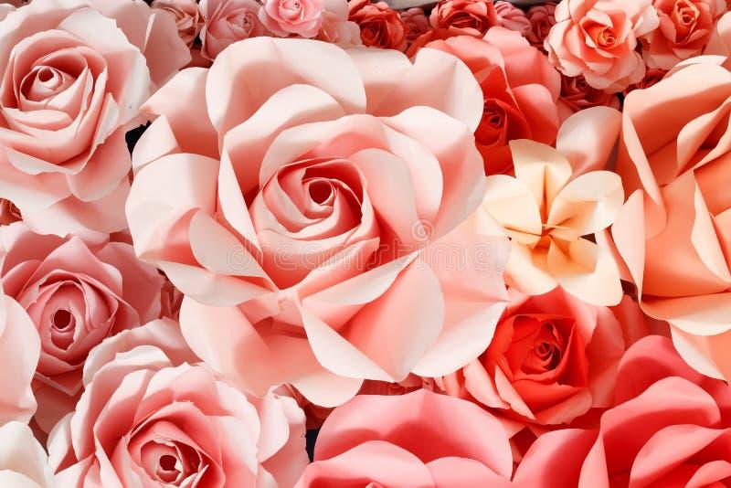 Fond de Rose de papier photos libres de droits