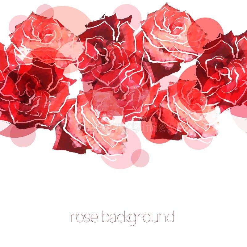 Fond de Rose. Modèle abstrait floral illustration stock