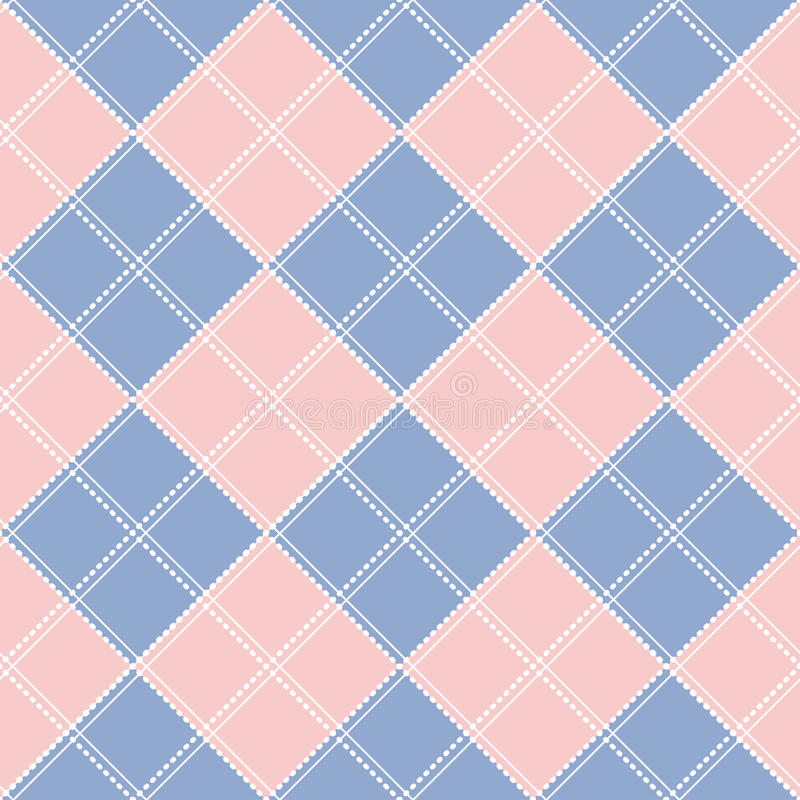 Fond de Rose Quartz Serenity Diamond Chessboard illustration de vecteur