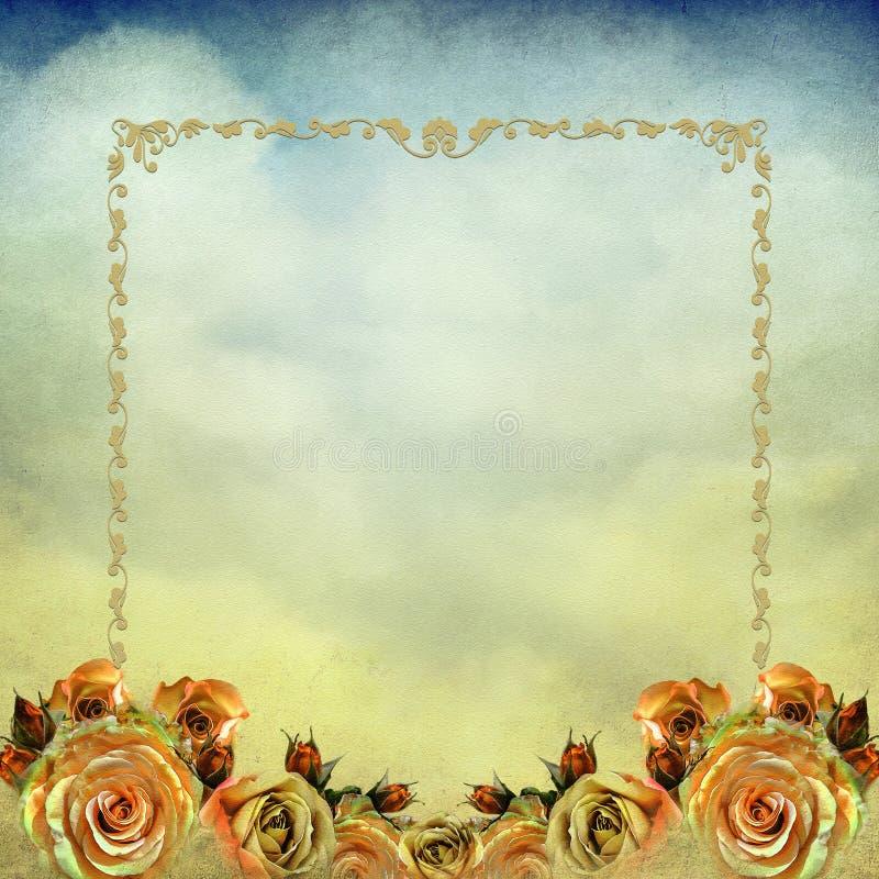 Fond de roses de vintage illustration libre de droits