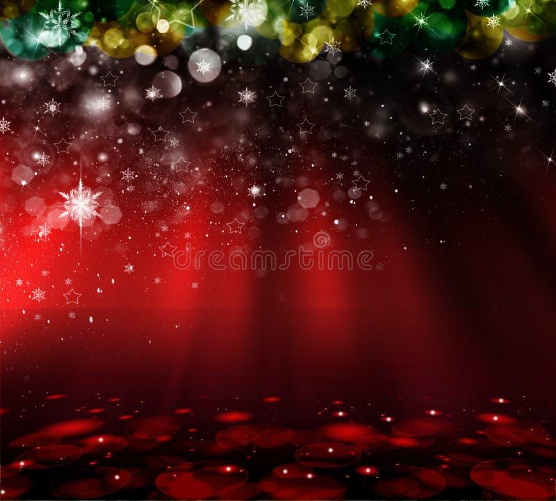 Fond de rouge de Noël images libres de droits