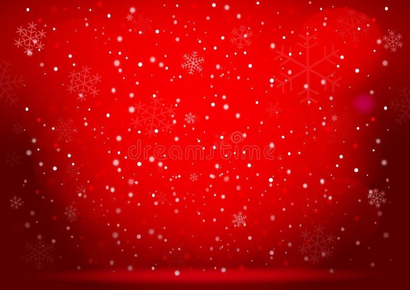 Fond de rouge de Noël Vecteur eps10 illustration libre de droits