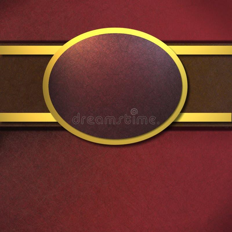 Fond de rouge riche et d'or avec l'espace de copie illustration stock